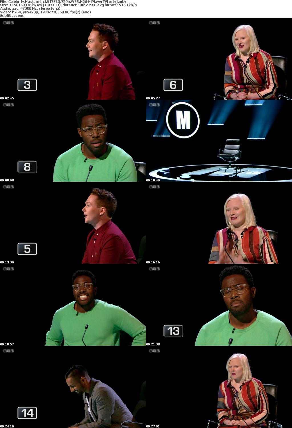 Celebrity Mastermind S17E10 720p WEB H264-iPlayerTV