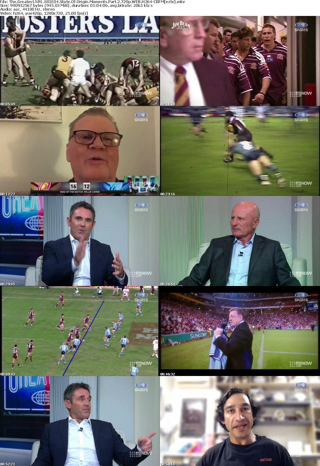 The Greatest NRL S01E04 State Of Origin Moments Part 2 720p WEB H264-CBFM