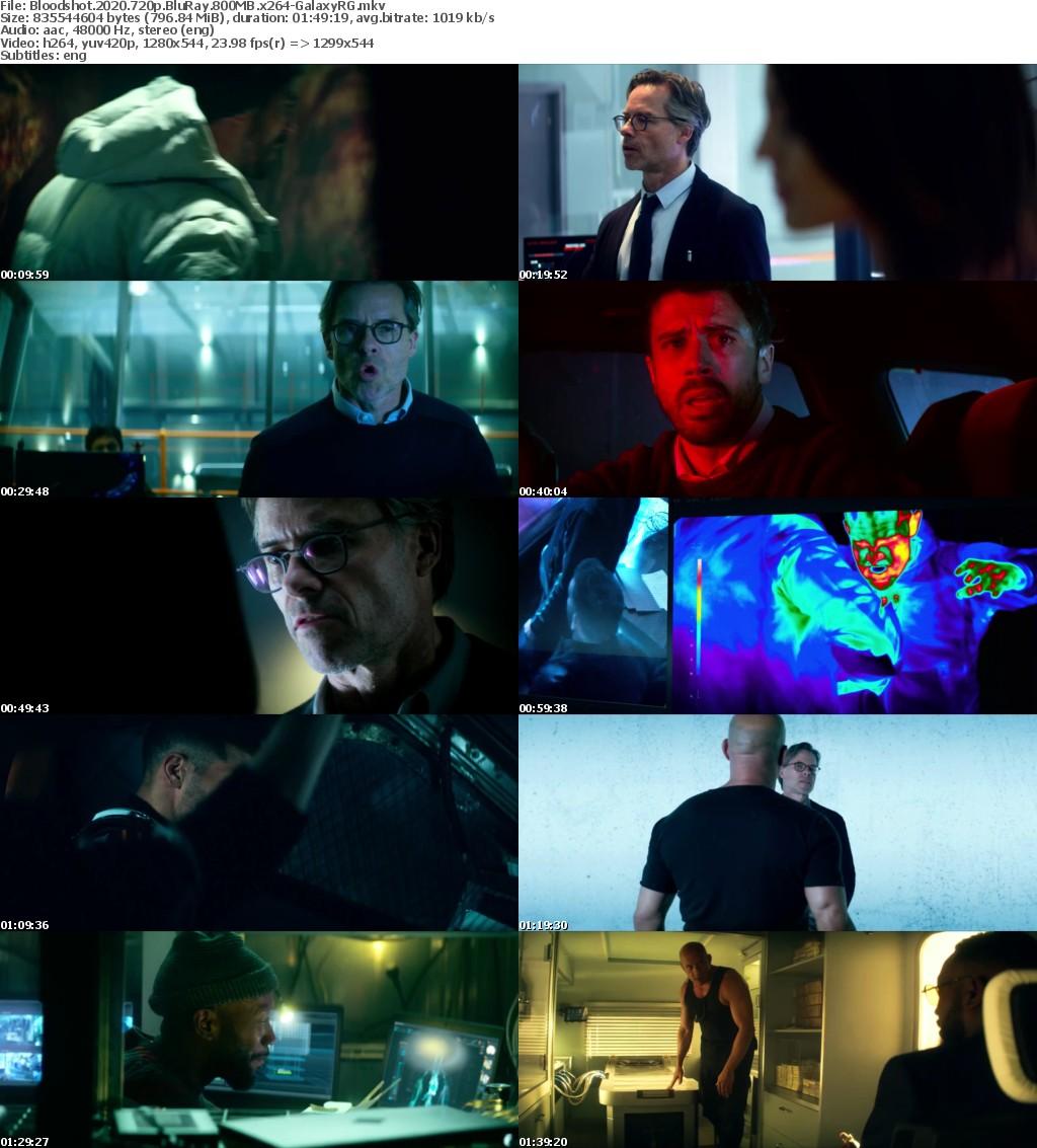 Bloodshot (2020) 720p BluRay 800MB x264-GalaxyRG