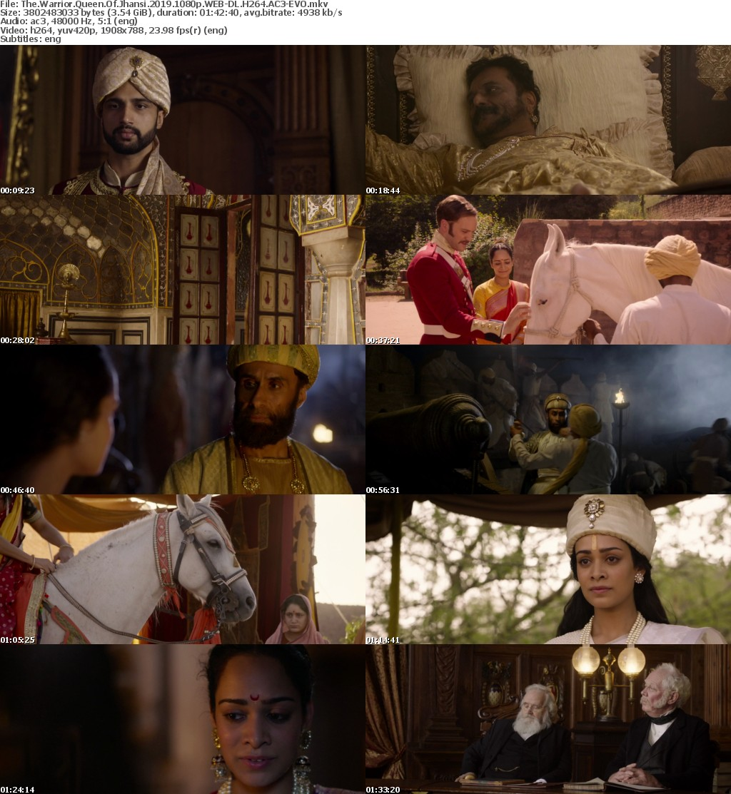 The Warrior Queen Of Jhansi (2019) 1080p WEB-DL H264 AC3-EVO