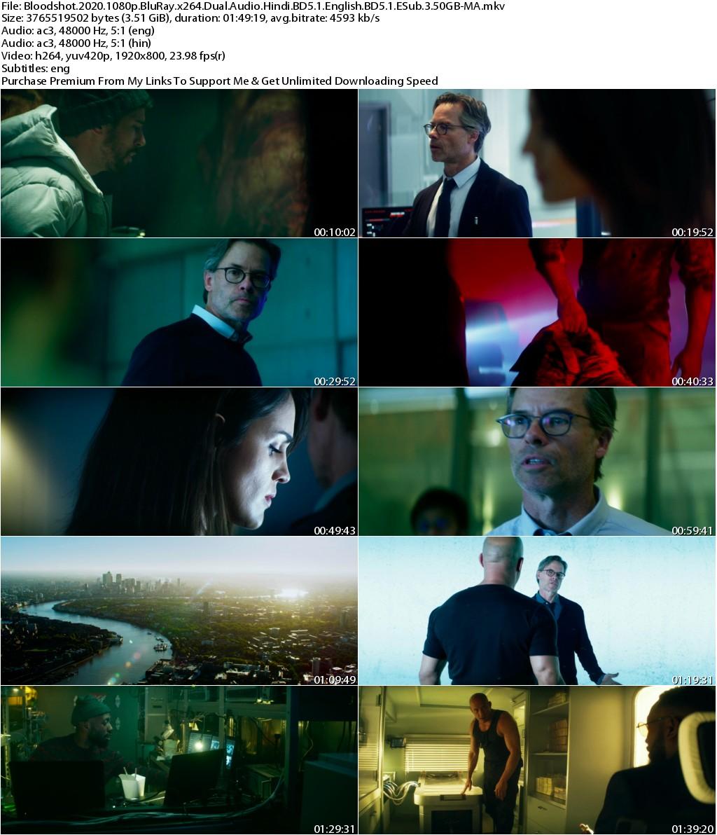 Bloodshot (2020) 1080p BluRay x264 Dual Audio Hindi BD5.1 English BD5.1 ESub 3.50GB-MA
