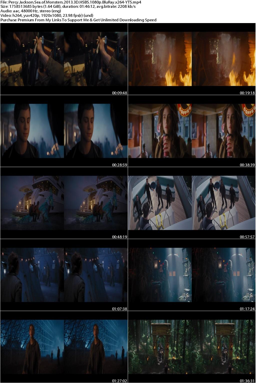Percy Jackson Sea of Monsters (2013) 3D HSBS 1080p BluRay x264-YTS