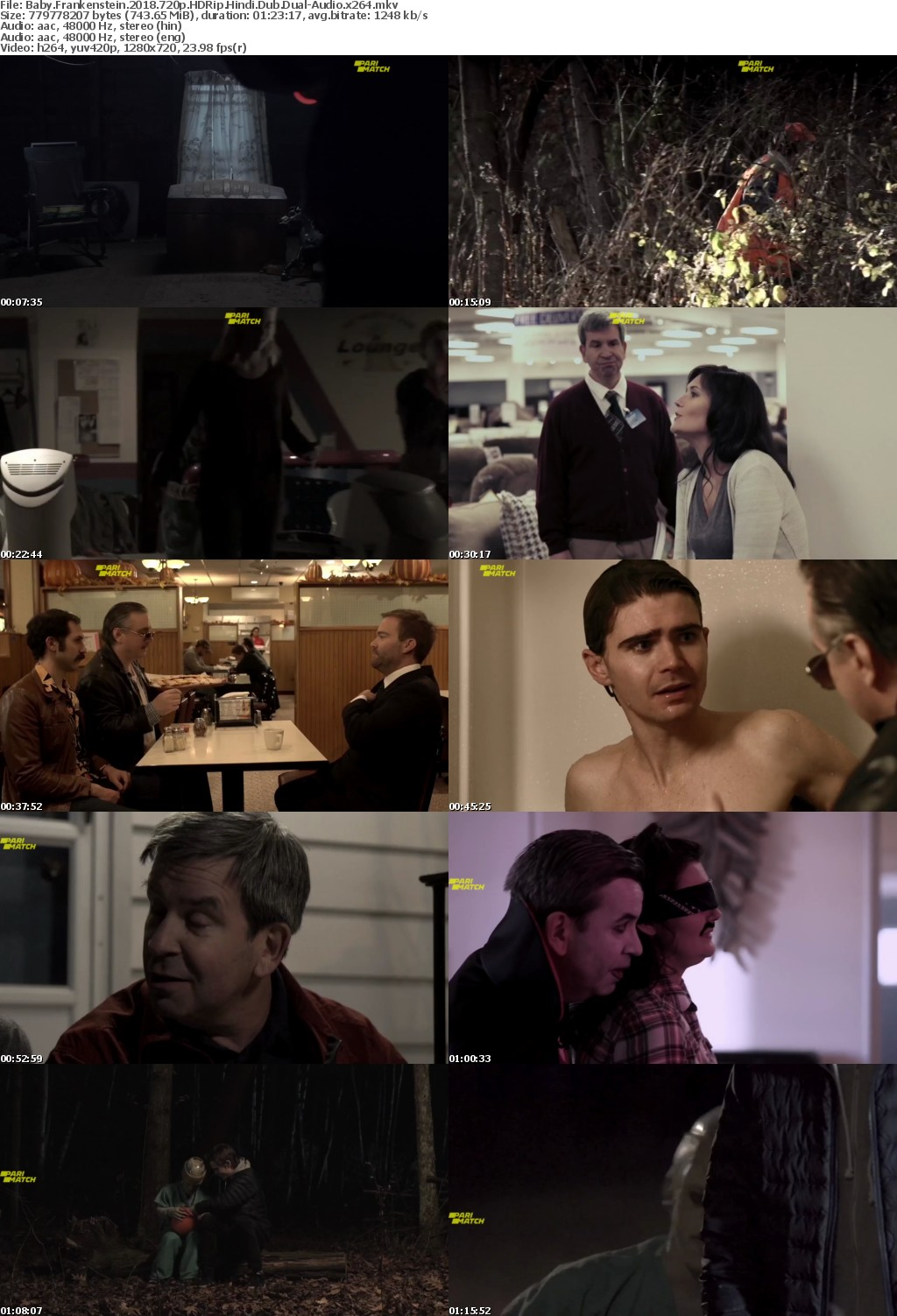 Baby Frankenstein (2018)720p HDRip Hindi-Dub Dual-Audio x264