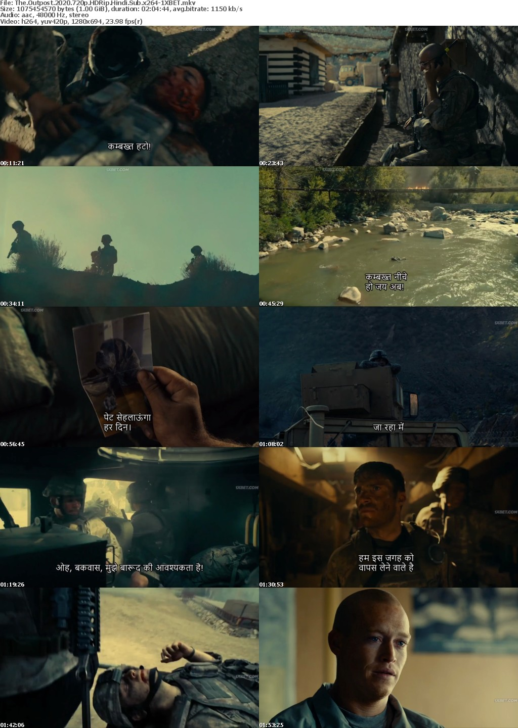 The Outpost (2020) HDRip 720p Hindi-Sub x264 - 1XBET