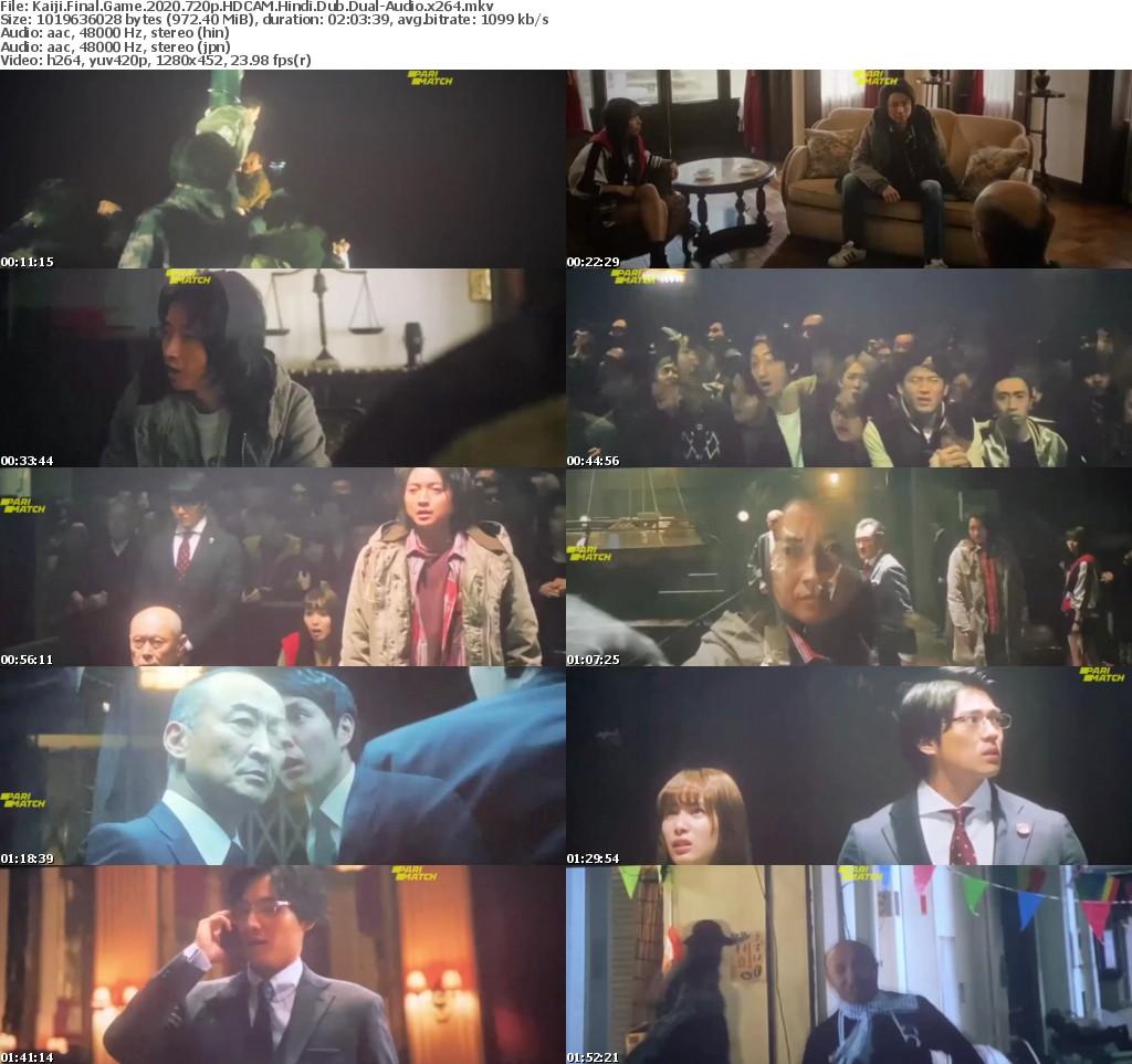 Kaiji: Final Game (2020) 720p HDCAM Hindi-Dub Dual-Audio x264