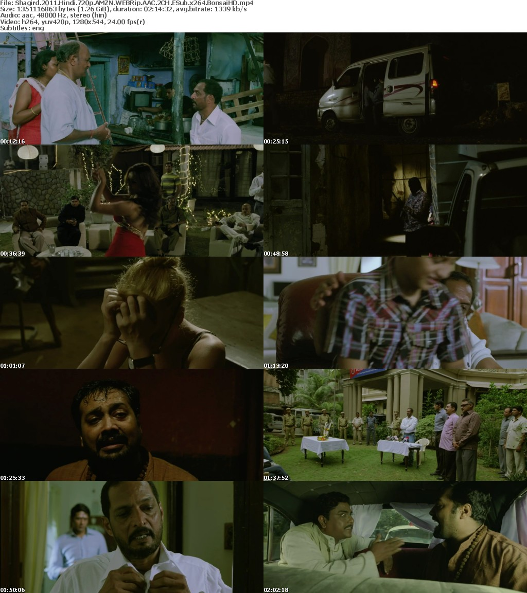 Shagird (2011) Hindi 720p AMZN WEBRip 1 3 GB AAC 2CH ESub x264 - Shadow (BonsaiHD)
