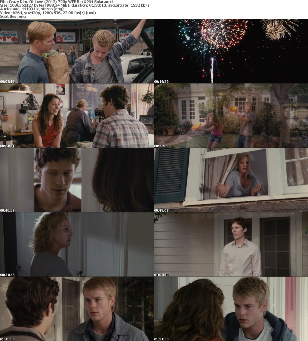 Crazy Kind Of Love (2013) 720p WEBRip X264 Solar