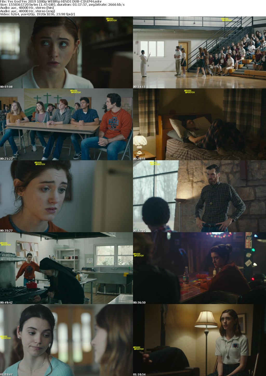 Yes God Yes 2019 1080p WEBRip HINDI DUB-C1NEM4