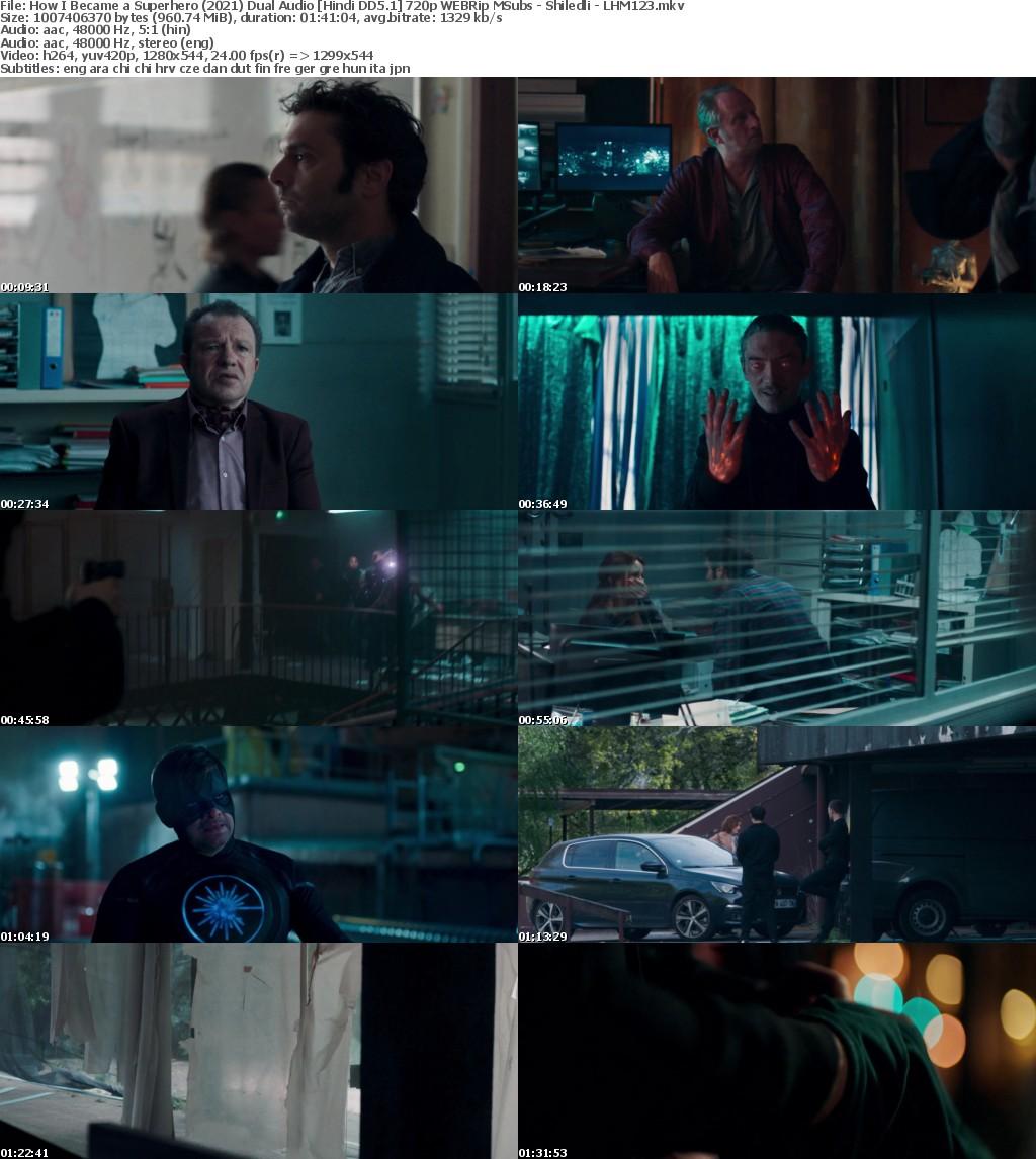 How I Became a Superhero (2021) Dual Audio Hindi DD5 1 720p WEBRip MSubs - Shiledli - LHM123