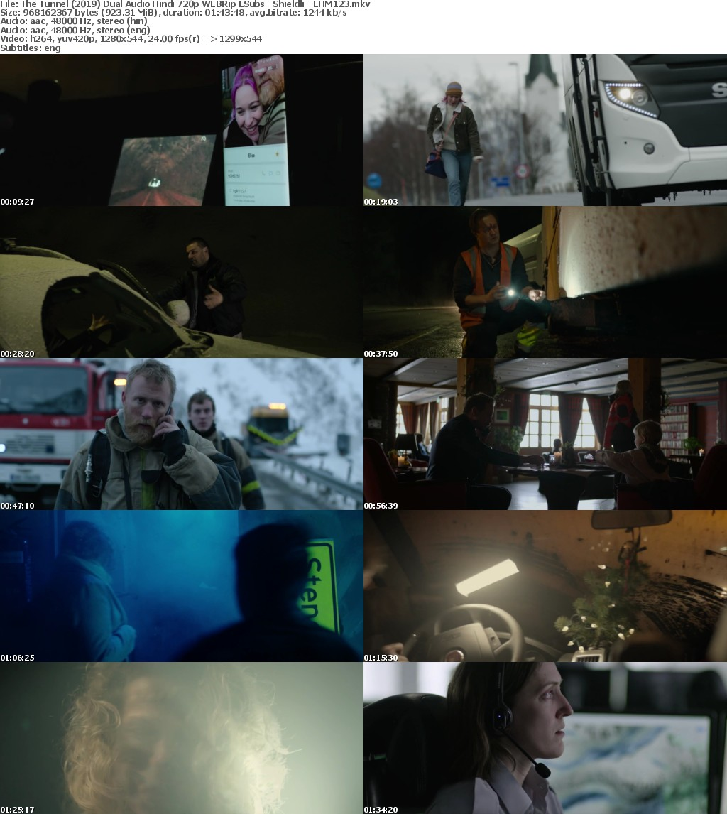 The Tunnel (2019) Dual Audio Hindi 720p WEBRip ESubs - Shieldli - LHM123